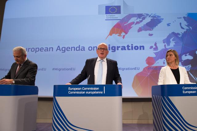 Press conference by Frans Timmermans, Federica Mogherini and Dimitris Avramopoulos on Adoption of the Euopean Agenda on Migration