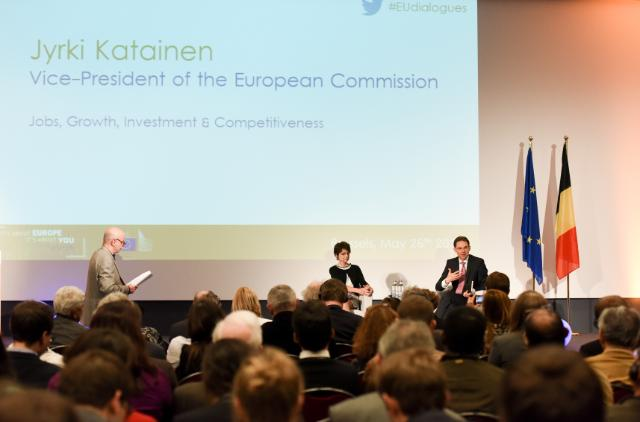 Visit of Jyrki Katainen, Vice-President of the EC, and Marianne Thyssen, Member of the EC, to Belgium