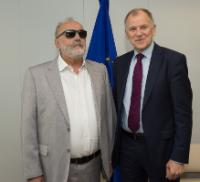Visit of Panagiotis Kouroumplis, Greek Minister for Health and Social Security, to the EC