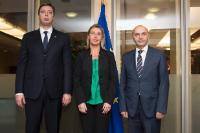 Visit of Aleksandar Vučić, Serbian Prime Minister, and Isa Mustafa, Kosovan Prime Minister, to the EC