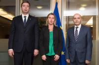 Visite d'Aleksandar Vučić, Premier ministre serbe, et Isa Mustafa, Premier ministre kosovar, à la CE