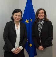 Visite de Julie Brill, commissaire de la Commission fédérale américaine du commerce, à  la CE