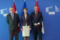 Visit of Simonetta Sommaruga, President of the Swiss Confederation, and Jean Asselborn, Luxembourgish Minister for Foreign and European Affairs; Minister for Immigration and Asylum, to the EC