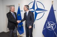 Meeting between Jens Stoltenberg, Secretary General of the NATO, and Dimitris Avramopoulos, Member of the EC