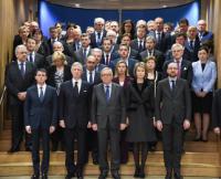 Hommage rendu, au bâtiment Berlaymont et à la station de métro Maelbeek, aux victimes des attentats terroristes du 22 mars à Bruxelles
