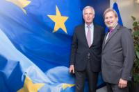 Visit of Michel Barnier, Special Adviser to Jean-Claude Juncker, President of the EC, on European Defence and Security Policy, to the EC