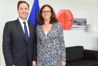 Visite de Steven Ciobo, ministre australien du Commerce et de l'Investissement et membre du Parlement australien, à la CE