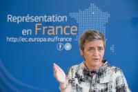 Visit by Margrethe Vestager, Member of the EC, to Paris