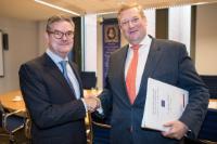 Visite de Julian King, membre de la CE, aux Pays-Bas