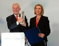 Cérémonie de remise du Prix de Bonn international de la Démocratie 2016 à Federica Mogherini, vice-présidente de la CE