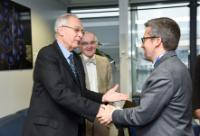 Visit of Pierre Corvol, former administrator of the College de France, to the EC