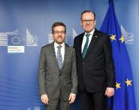Visite de Flemming Besenbacher, président du comité directeur de la Fondation Carlsberg, à la CE
