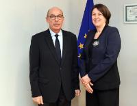 Visite de Bernard Roman, président de l'Autorité de régulation des activités ferroviaires et routières (Arafer), à la CE