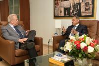 Visite d'Abdulrahman bin Mohammed Sulaiman Al-Khulaifi, chef de la mission du Qatar auprès de l'UE, à la CE