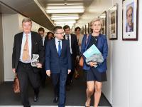 Visite de Valérie Pécresse, présidente du conseil régional d'Île-de-France, à la CE
