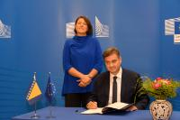 Visit of Denis Zvizdić, Chairman of the Council of Ministers of Bosnia and Herzegovina and signing ceremony of Transport Community Treaty (TCT)