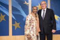 Visit of Barbara Hendricks, Goodwill Ambassador of the United Nations High Commissioner for Refugees, to the EC