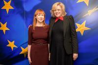 Visite de Jurgita Petrauskienė, ministre lituanienne de l'Education et des Sciences, à la CE