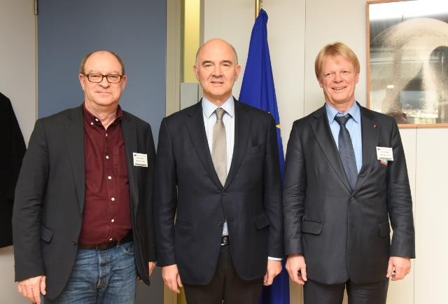 Visit of Reiner Hoffmann, President of the German Confederation of Trade Unions (DGB), to the EC