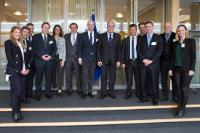 Visite de membres de SETE (Confédération du tourisme grec), à la CE.