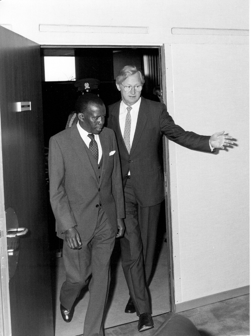 Visit of Quett Ketumile Joni Masire, President of Botswana, to the CEC