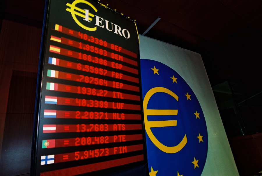 Launching of the euro: fixing of exchange rates between the euro and currencies of Member States in the eurozone