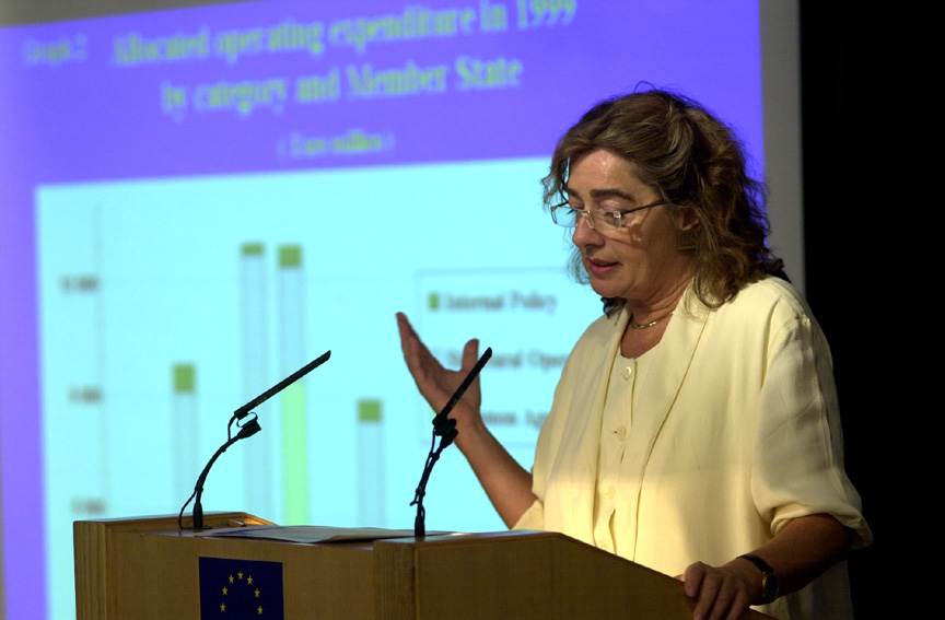 Press conference by Michaele Schreyer on the Member States and the EU budget