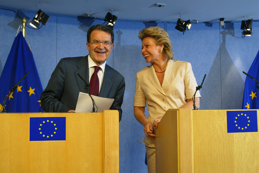 Press conference by  Romano Prodi and Viviane Reding on Erasmus World