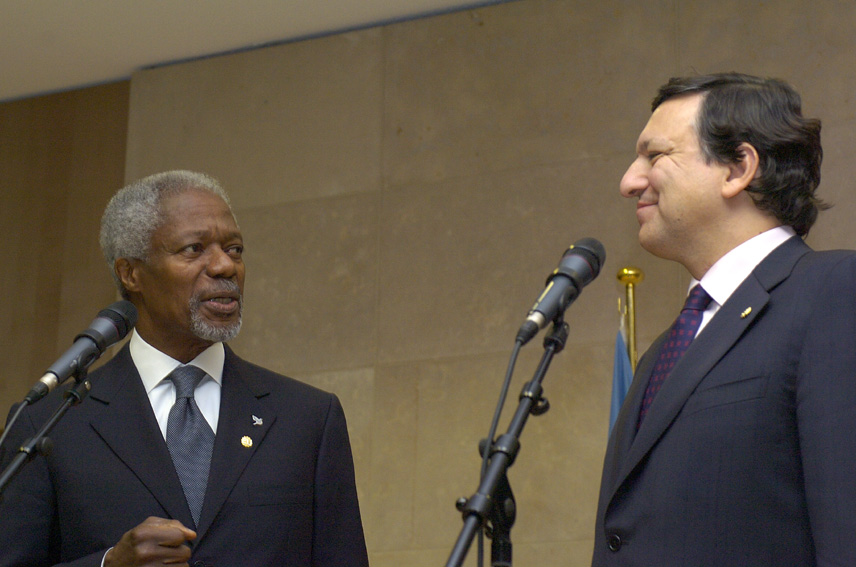 Visit of Kofi Annan, Secretary General of the United Nations, to the EC