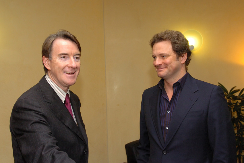 Visit by Colin Firth, British actor, to the EC