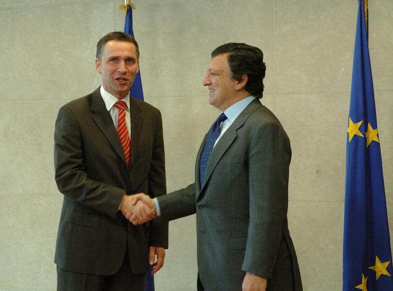 Visite de Jens Stoltenberg, Premier ministre norvégien, à la CE