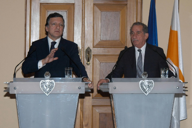 Visite de José Manuel Barroso, président de la CE, à Chypre