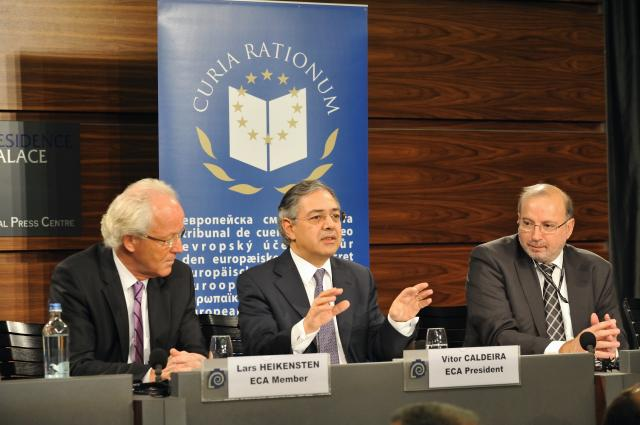 Press conference by Vítor Manuel da Silva Caldeira, President of the European Court of Auditors, on the Annual Activity Report of the European Court of Auditors