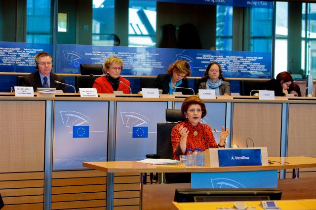 Hearing of Androulla Vassiliou, Member designate of the EC, at the EP