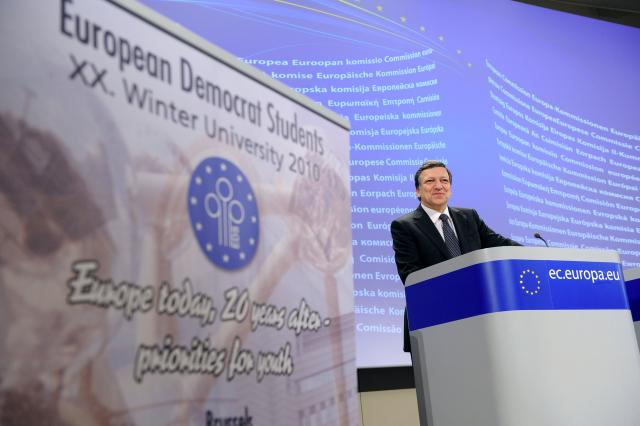Speech of José Manuel Barroso, President of the EC, on the occasion of the XXth EDS Winter University 2010