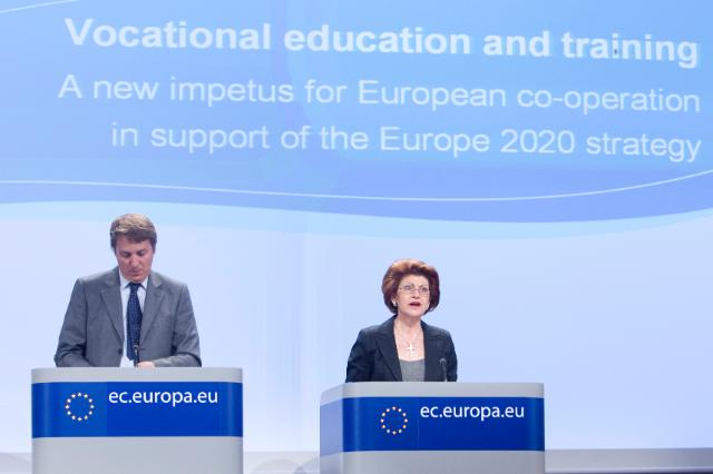 Press conference by Androulla Vassiliou, Member of the EC, on Vocational Education and Training (VET)