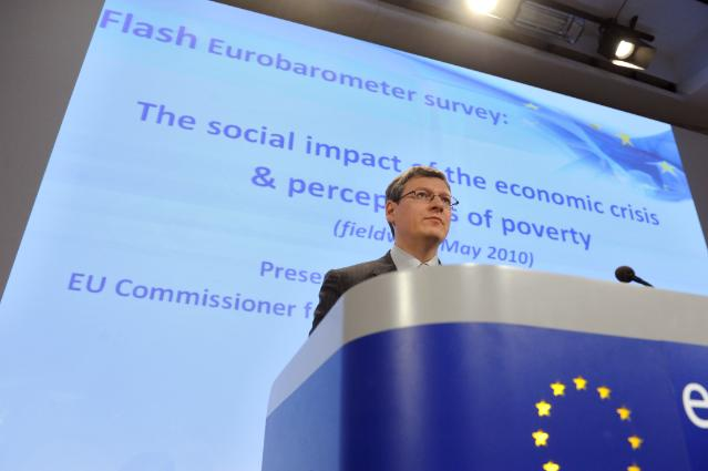 Press conference by László Andor, Member of the EC, on the results of the Eurobarometer survey on social impacts of the crisis