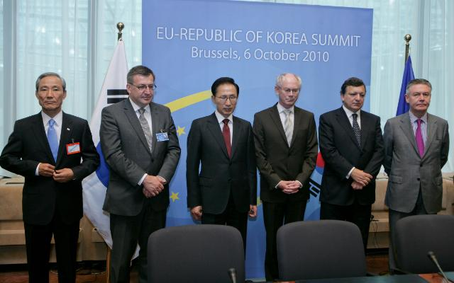 Signature of a Free Trade Agreement between the EU and South Korea
