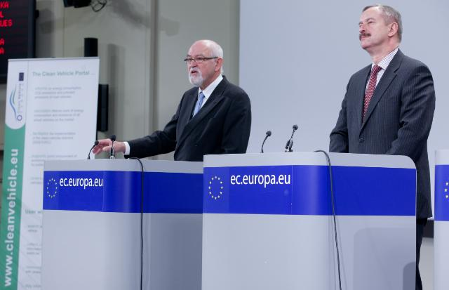Press conference by Siim Kallas, Vice-President of the EC, on the clean vehicles web portal