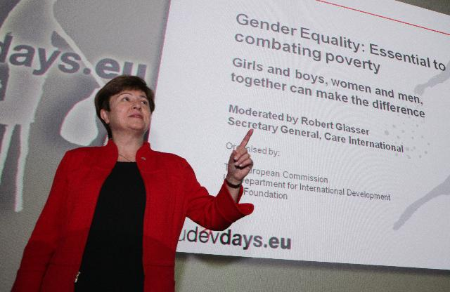 Participation of Kristalina Georgieva, Member of the EC, at the panel session on gender equality: Essential to Combating Poverty