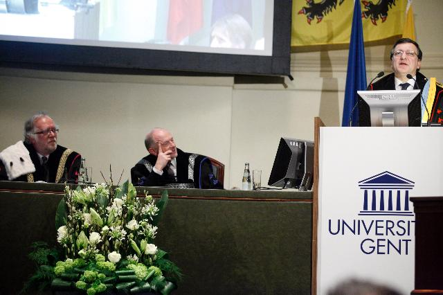 Award of the degree of Doctor Honoris Causa of the University of Ghent to José Manuel Barroso, President of the EC