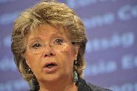 Conférence de presse de Viviane Reding, vice-présidente de la CE, sur les droits patrimoniaux