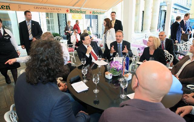 Visit of José Manuel Barroso, President of the EC, to Croatia