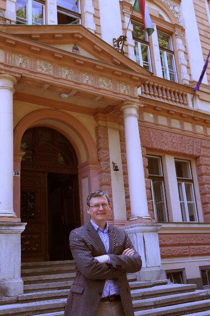 Visit of László Andor, Member of the EC, to his old school in Hungary, as part of the European initiative