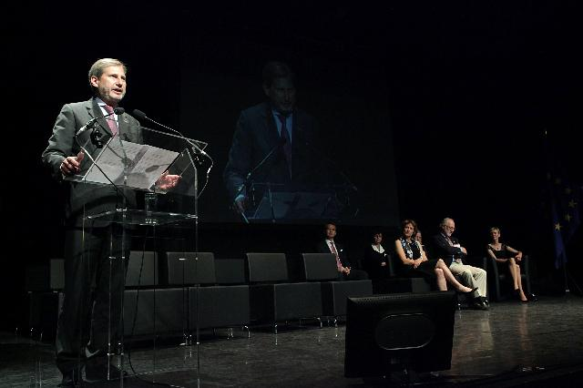 Participation of Johannes Hahn, Member of the EC, at the 2011 RegioStars Award ceremony