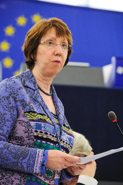 Participation of Catherine Ashton, Vice-President of the EC, in the EP plenary session