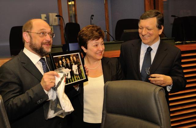 Visite de Martin Schulz, président du PE, à la CE