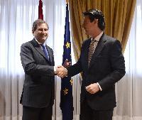 Visite de Johannes Hahn, membre de la CE, en Espagne