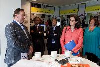 Visit of the new facilities of the Amsterdam Schiphol airport, by Cecilia Malmström, Member of the EC