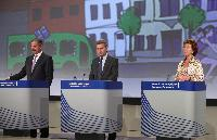 Joint press conference by Siim Kallas, Neelie Kroes and Günther Oettinger, Members of the EC, on the innovation partnership for Smart Cities and Communities